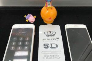 iPhone8 画面割れ修理【液晶破損・強化ガラスフィルム貼付】