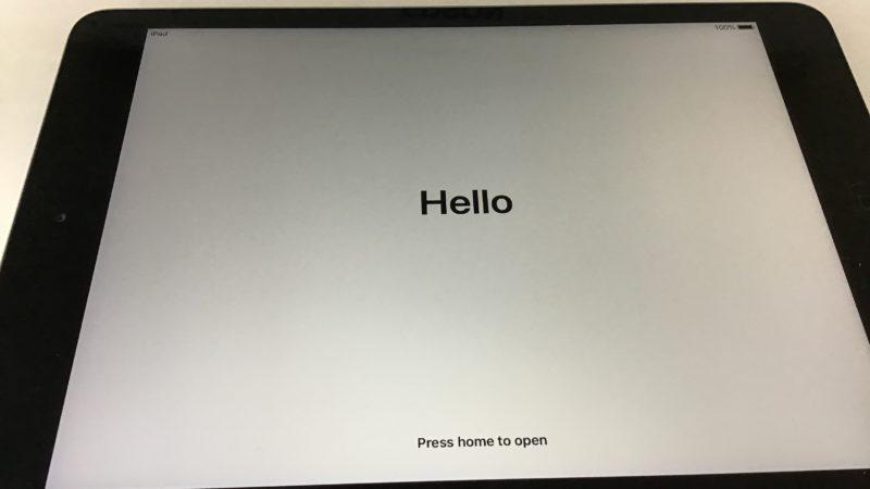 iPad mini2の初期化