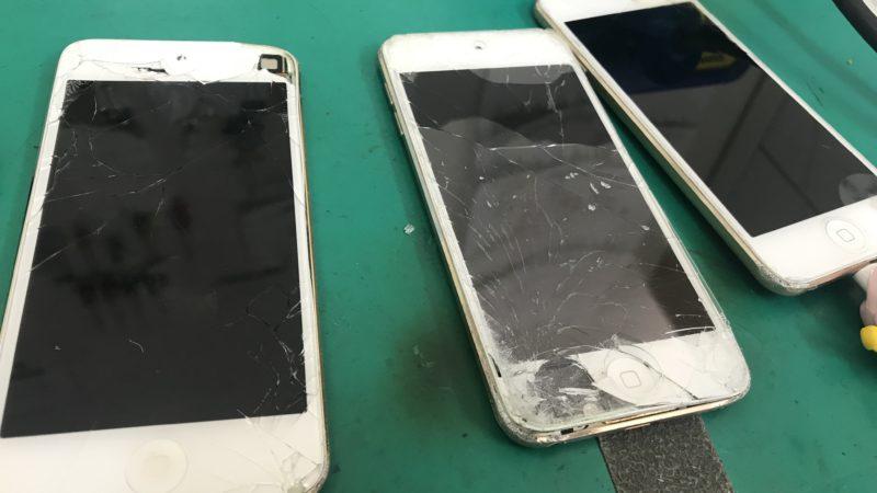 iPod touch6画面割れパネル交換修理♪