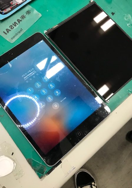 iPadmini2 液晶破損修理