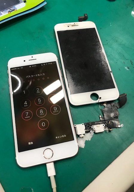 iPhone6s 充電コネクタ修理