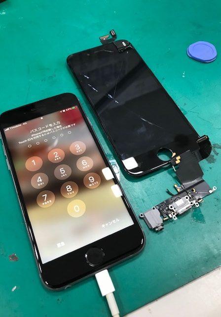 iPhone6s 充電コネクタ修理&画面割れ修理