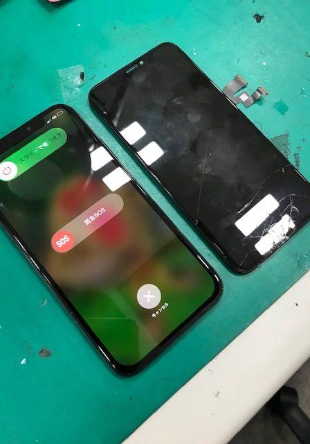 iPhoneX 画面割れ修理