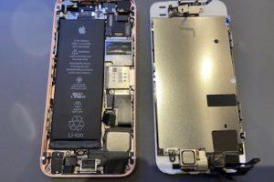 iPhoneSEのバッテリー交換