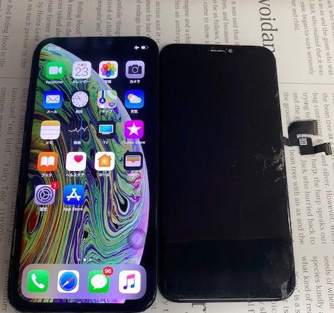 iPhoneX ガラス割れ修理