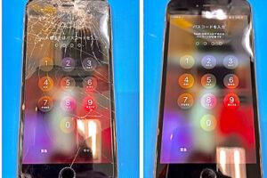 安城市より、iPhone6Plus画面割れ修理にてご来店