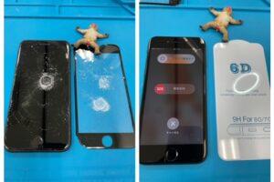 高浜市より、iPhone8画面割れ修理にてご来店!