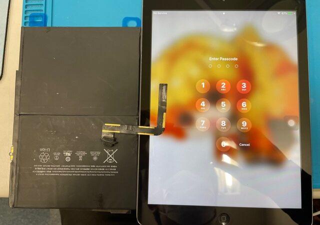 豊田市より、iPadAir 充電不良修理&バッテリー交換にてご来店!