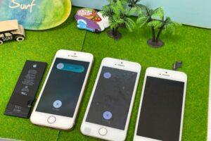 岡崎市より、iPhoneSE バッテリー交換 フロントパネル交換にてご来店!