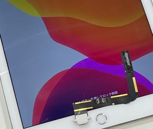 安城市より、iPad6世代充電コネクタ修理にてご来店!