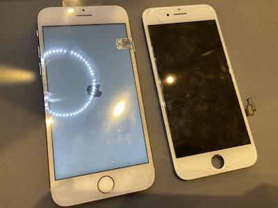 iPhone8 画面割れ修理