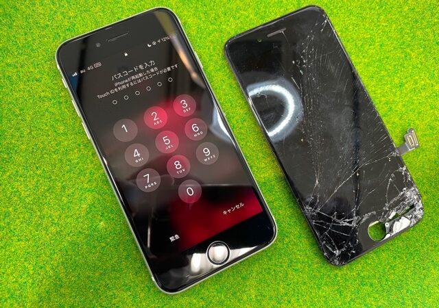 岡崎市より、iPhoneSE2世代 画面割れ修理にてご来店!