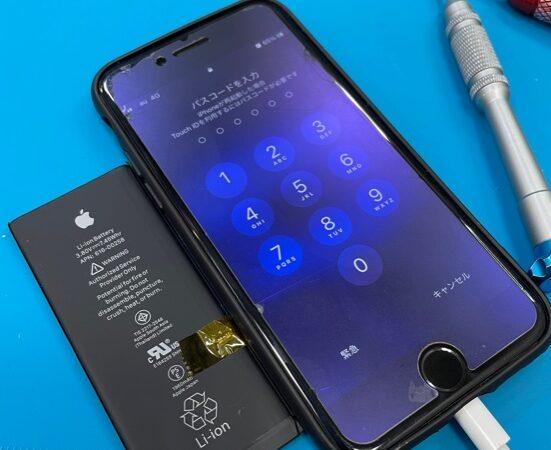 安城市より、iPhone7バッテリー交換にてご来店!