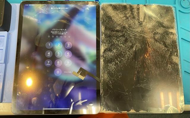 刈谷市より、iPadPro11インチ液晶破損にてご来店!