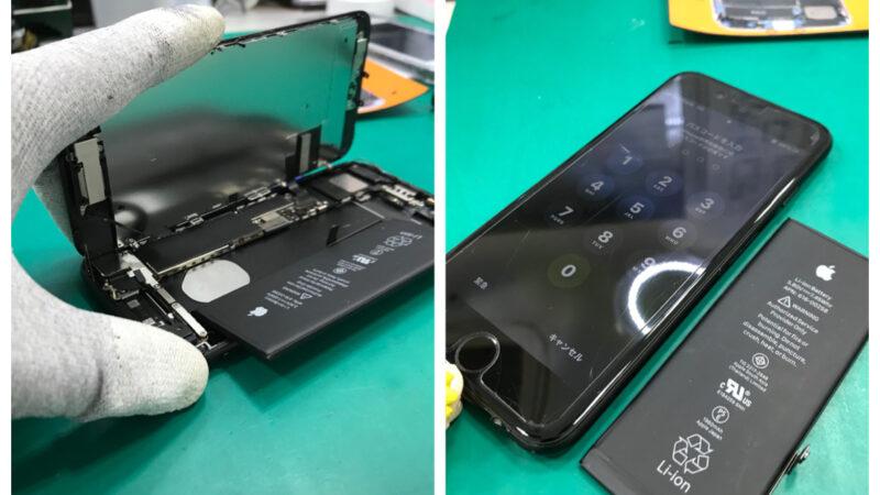 安城市より、iPhone7バッテリー交換にてご来店