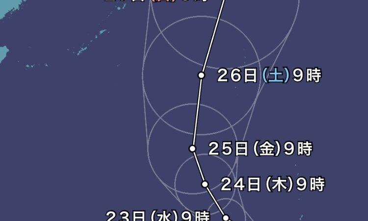 台風が発生中の本日6/22(火)も10時から営業しております♪