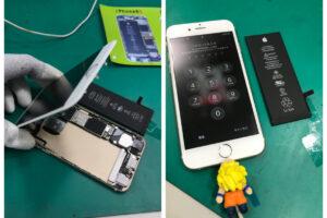 安城市より、iPhone6sバッテリーの経年劣化によるバッテリー交換にてご来店