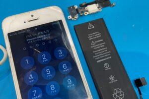 安城市より、iPhoneSEバッテリー交換&Dockコネクタ修理にてご来店