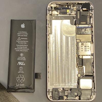 iPhoneSE バッテリー交換!
