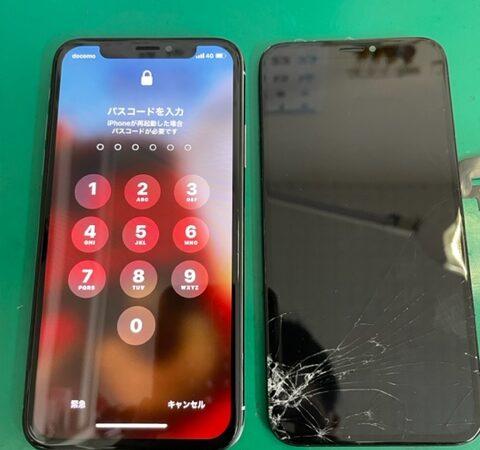 iPhoneXs 画面割れ修理&コーティング♪
